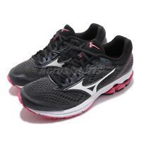Mizuno Wave Rider 22 Black White Pink Women Running Shoes Sneakers J1GD1831-71