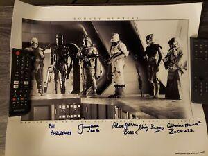 Star Wars Bounty Hunters Signed by 5 Jeremy Bulloch - 16X20 Alan Harris