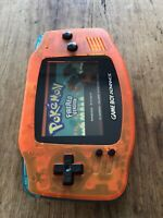 Nintendo Gameboy Advance Orange GBA Teal Handheld Gaming Console BACKLIT IPS V2