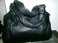 Coach Parker No.13437 Rare Beautiful Large Navy Blue Iconic Leather Shoulder Bag