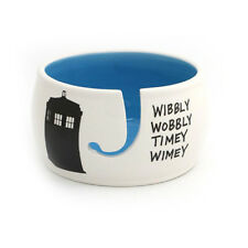 Dr. Who Yarn Bowl Wibbly Wobbly - Dark Blue Inside