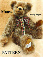 "Mohair ""Mouse""  a Teddy Bear PATTERN by Neysa A. Phillippi Purely Neysa plush"