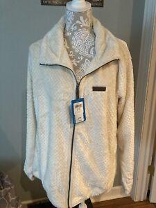 Columbia Plus Size 2X Women's Fire Side II Sherpa Jacket Full Zip Ivory Genuine
