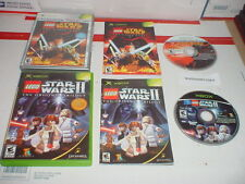 LEGO STAR WARS 1 & 2 both games complete in cases for Microsoft XBOX