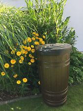 Regentonne in Holz Optik 265 Liter Volumen Wasserspeicher Regenwasser Regenfass