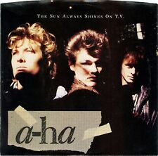 """A-HA """"The Sun Always Shines on TV"""" (45 RPM) 7"""" Vinyl Record w/ picture sleeve"""
