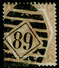 SG123, 6d pale buff plate 12, USED. Cat £350. PA