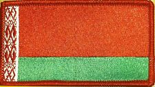 BELARUS Flag Patch With VELCRO® Brand Fastener Tactical RED Border #6