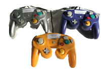 LOT 3 NINTENDO GAME CUBE HYDRA VIDEO GAME CONTROLLER YELLOW GRAY PURPLE UNTESTED