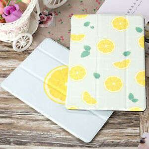 """Lemon Leather Stand Magnetic Smart Cover Case For Apple iPad 6th 5th 9.7"""" mini 5"""
