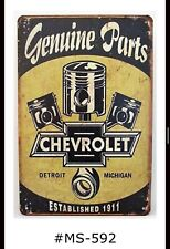 New ListingTin Sign Cars Trucks Chevy Mechanics Chevrolet Parts Metal Retro Signs Plaques