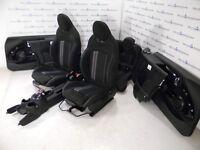 Mini F57 Seggiolini IN Pelle Jcw Sedili Sportivi Dinamica - Tessuto Nero