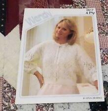 "Emu 2053 Vintage Knitting Pattern Ladies Bed Jackets 3 ply 34-44/"""