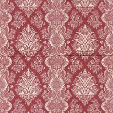 2 Serviettes en papier Décor Fleuri Rouge Decoupage Paper Napkins Floral Design
