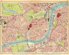 Londres. brompton pimlico mayfair westminster chelsea lambeth west end 1930 carte