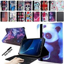 Leather Stand Cover Case + Bluetooth Keyboard For Samsung Galaxy Tab 2/3/4 + pen