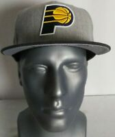 Indiana Pacers New Era 9Fifty NBA Snapback Cap Hat Acrylic Wool Heather Gray