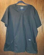 Women's Cherokee Scrubs Top Workwear Revolution Black Sz 3XL NEW