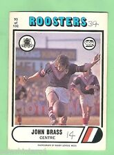 1976 SCANLENS RUGBY LEAGUE CARD #93  JOHN BRASS,  EASTERN SUBURBS ROOSTERS