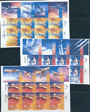 ISRAEL 2013 100 YEARS OF AVIATION IN ERETZ ISRAEL SET OF 3 SHEETS MNH