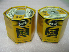 KESTER 24-7317-9797 ROSIN CORE SOLDER .063 LOT OF (2) 1 lb SPOOLS