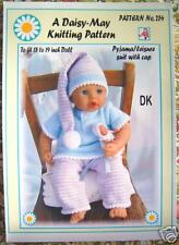 "1 dolls knitting pattern for*18""/20"" doll Annabell type doll No.254 by Daisy-May"