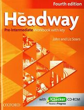 NEW HEADWAY Pre-Intermediate Fourth Edition Workbook w Key & iChecker CD-ROM NEW