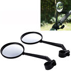 2Pcs Cycling Bike Bicycle Handlebar Flexible Safe Wide Rear View Rearview Mirror