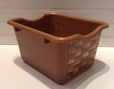 Step 2 Pretend Play Kitchen Replacement Brown Plastic Bin Basket Drawer