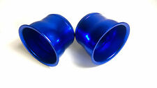 "3"" pouces alliage 74mm air froid ram feed induction trumpet cone fit paire de bleu"