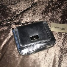 Miss Grant Couture Girls Stunning Silver Shoulder Bag Chain Flap Party Handbag