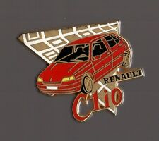 Pin's voiture / Clio Renault (signé Arthus Bertrand) - version rouge