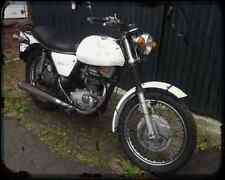 Bsa B25 Fleetstar 02 A4 Metal Sign Motorbike Vintage Aged