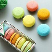 5Pcs Fashion Cute Macarons Colors Rubber Pencil Eraser Sweet Stationery Set New
