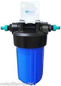 High Capacity Koi Pond Dechlorinator, Full Flow Water Filter hosepipe connectors