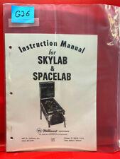 Skylab/Spacelab Pinball Operations/Service/Repair /Troubleshooting Manual G26