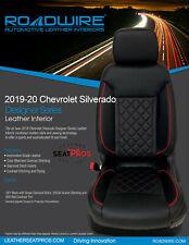 Roadwire Leather Seat Covers 2019-20 Silverado Crew Double Cab Black Red Diamond