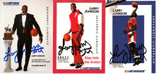 Larry Johnson full set of 3 certified signed autograph auto 1991 Courtside cards