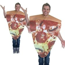 Pizza Slice Costume Unisex Funny Novelty Food Fancy Dress Outfit New Adults