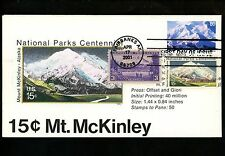 Ranto Cachet US FDC #C137 on 1454 combo w/ 800 National Parks Mt McKinley 2001
