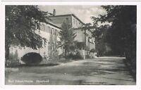 Ansichtskarte Bad Düben/Mulde - Moorbad - Eingang - Zufahrt - Straße - s/w
