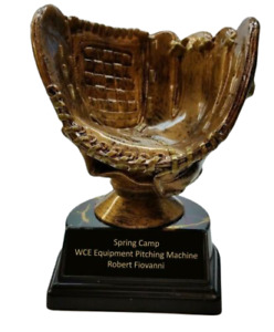 BASEBALL GLOVE STYLE BALL HOLDER PERSONALIZED TROPHY FREE ENGRAVING    FAST SHIP