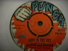 "Lloyd And Devon 7""  Love Is The Key   The Virtues   High Tide ORIG PUNCH KILLER"