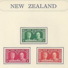 NEW ZEALAND # 199-201 MLH SILVER JUBILEE OF KING GEORGE V