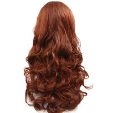 Curly Wig Glueless Full Lace Wigs Red Women Indian Remy Human Hair Lace Front US