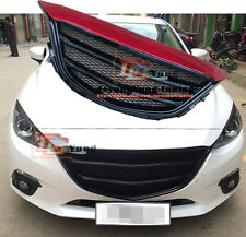 Custom Black Front Bumper Grille Sport Grill Type For MAZDA 3 Axela M3 2014-2016