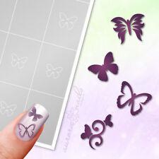 Airbrush + Nailart Schablonen SET18 80 Stk Schmetterlinge Butterfly Klebend Set