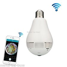 EC7-J8 1.3MP 360 Degree Bulb Lamp Network Panoramic Camera Wireless WiFi Smart S