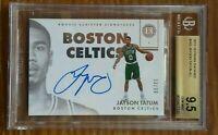 2017 Panini encased Jayson Tatum autograph rookie card 60/99 bgs 9.5 /10 celtics