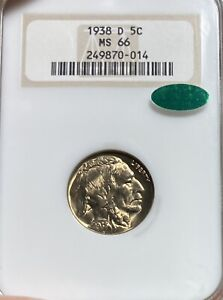 1938-D Old Fatty Holder! NGC/CAC MS66 Buffalo Nickel